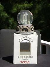 New York City Revolving Skyline Musical Snow globe Twin Towers Plays NY NY Box