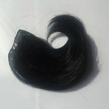 Human Hair Rooting Reborn Babies Toddlers Black Straight  NOT Mohair