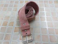 "WOMENS H&M STUDDED LEATHER BELT PINK SIZE 29/30 30"" WORN SKU NO AR479"