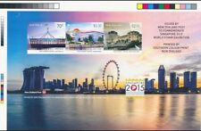 Singapore Australia New Zealand - 2015 World Stamp Exh color proof MS IMPERF