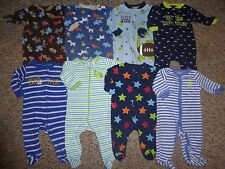 Baby Boy 3-6 months Sleeper Pajamas Clothes Lot 8 Pieces.