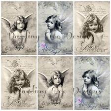 12 Ángeles de mi dulce Toppers Ideal cardmaking, scrapbooking, adornos