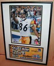 STEELERS Hines Ward US Postal Service Print Super Bowl XL Champ SB MVP