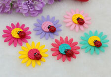 10pcs NEW Sunflower Felt Non-woven Applique Trims Patch For kids DIY Craft Mixed