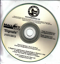 MALLORY KNOX Signals 2013 UK 11-track promo test CD