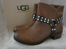 UGG Australia Womens W Darling Harness Leather Boots Shoes US 9 EUR 40 NWB
