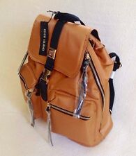 RIVER ISLAND BURNT ORANGE SATIN BACKPACK / RUCKSACK BAG. WATERPROOF. BRAND NEW.