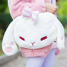 2016 New Cute Lolita Girl's Bowknot Bunny Shoulder Bag Rabbit Plush Handbag Gift