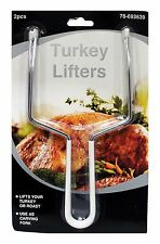 MOMENTUM BRANDS 2 pc TURKEY LIFTERS Carving Forks Thanksgiving/Christmas NEW