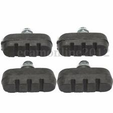 Set of 4 Rubber Bike Bicycle Cycling Riding Brake Caliper Pads Shoes Blocks Pads
