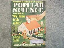 1962 POPULAR SCIENCE SEPTEMBER VOL 181 NO. 3 FALCON'S CONVERTIBLE LIFE ON MARS P