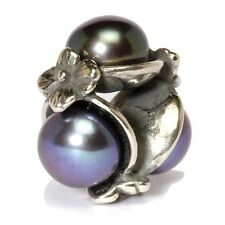 AUTHENTIC TROLLBEAD TRIPLE, BLACK 51733 TRIPLA PERLA NERA CON ARGENTO