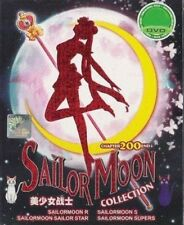 DVD SAILOR MOON COLLECTION CHAPTER 1-200 END + 3 MOVIE SAILORMOON +Free 1 Anime