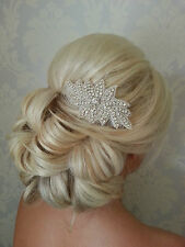 Rhinestone Crystal Sparkling Hair Comb Brides Maid Vintage Beach Weddings