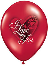 "6 x 11"" Valentine's Day I Love You Red Rose Latex Balloons Party Decoration"
