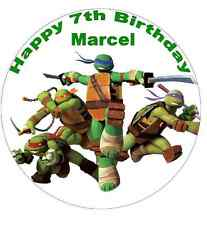 "Teenage Mutant Ninja Turtles 7.5 ""Personalizadas Cake Topper Comestibles De Oblea De Papel"