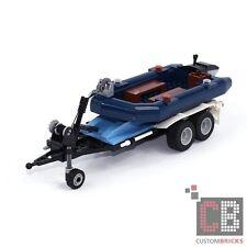 CB CUSTOM Schlauchboot mit Anhängeraus LEGO® Steinen z.B. für  Beetle 10252