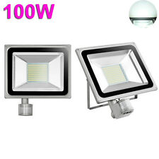 100W LED PIR Motion Sensor Flood Light Outdoor Garden Spot Lamp Cool White