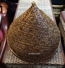 Bamboo Shade Wicker Ceiling Lantern Lamp Light Living Bed room DIY Thai Craft