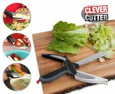 Clever Cutter 2-in-1 Knife & Cutting Board Scissors  - UK POST FREE