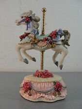 CAROUSEL HORSE FIGURINE HERITAGE HOUSE MELODIES COUNTY FAIR COLLECTION YESTERDAY