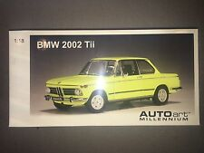 AUTOart 1:18 scale BMW 2002 Tii 2-door Sedan 1971 71 02 - Golf Yellow 1/18 RARE!