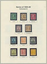 #581 // #606 (22) DIFF. STAMPS MOUNTED ON PAGES MOSTLY MINT CV $260.15 BQ8615