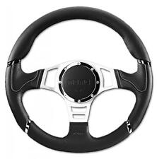 Momo Steering Wheel Millenium Sport 350mm Black Leather with grey accents
