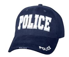 Rothco 9489 Deluxe Navy Blue Police Low Profile Cap- Raised 3 -D Embroidered