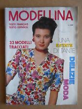 MODELLINA n°77 1988 con cartamodelli - rivista di lavori femminili  [C54]