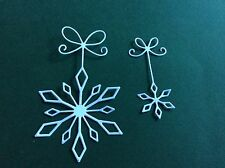 8 x DIE CUT WHITE PRECIOUS SNOWFLAKES  - ideal for Christmas cards / toppers