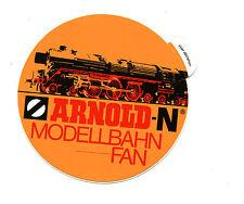 Vintage Sticker Label ARNOLD-N  MODELLBAHN FAN Model Train