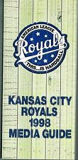 1998 Kansas City Royals Baseball MLB Media GUIDE