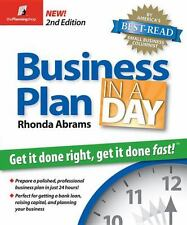 Business Plan in a Day: Get It Done Right, Get It Done Fast, Abrams, Rhonda, Goo