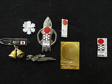 1964 TOKYO 1972 SAPPORO JAPAN OLYMPIC DAMEGE PIN BADGE 6 PINS PLUS 1976 PINS