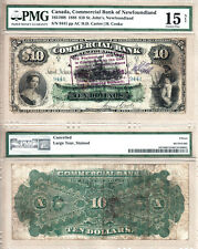 1888 $10 Commercial Bank of Newfoundland PMG Choice Fine 15