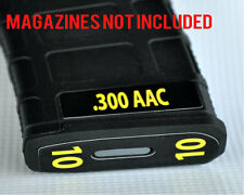 .300 AAC MAG STICKERS fits MAGPUL PMAG 30 GEN M3 AR15-M16-M4 YELLOW NUMBERS 7-12