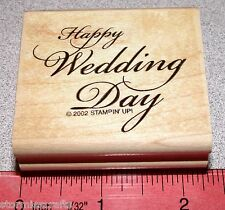 Stampin Up All Year Cheer III Stamp Single Happy Wedding Day Phrase Saying Clean