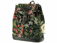 Signare TAPESTRY Zaino / Zaino / FASHION BAG-mattina GIARDINO DESIGN NERO