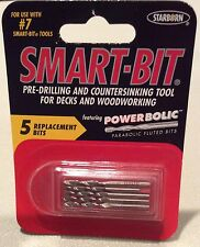 SMART-BIT # 7~PRE-DRILLING COUNTERSINKING TOOL FOR DECKS & WOODWORKING~SET OF 5