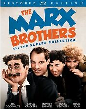 THE MARX BROTHERS : SILVER SCREEN COLLECTION  -BLU RAY Sealed Region free for UK