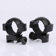 """1 Pair 25.4mm 1"""" Low Profile Laser Scope Ring Fit 20mm Rail Rifle Hunting Goods"""