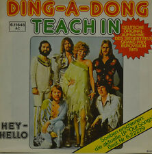 """TEACH IN - DING-A-DONG - HEY-HELLO Single 7"""" (I857)"""