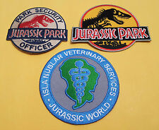 JURASSIC PARK MOVIE EMBROIDERED IRON  3PC PATCH