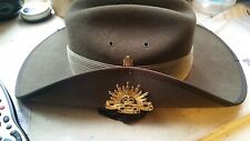 Australian slouch hat with Australian military force rising sun badge