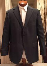 NEW Paul Betenly Mens Gray Faint Stripe Double Vent Suit Sz 42 R