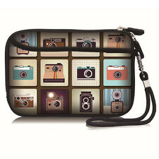"Printed Cute Cameras Carry Bag Case Pouch For 2.5"" USB External Hard Disk Drive"