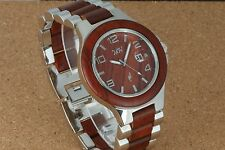 Men's Wooden Watch Rosewood Silver-Tone Wood Watch