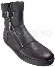CESARE PACIOTTI US 9 LUXURIOUS SHEARLING BOOTS ITALIAN DESIGNER MENS SHOES