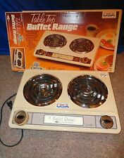 ELECTRIC  DOUBLE DUAL COUNTERTOP TABLE TOP STOVE RANGE HOT PLATE BUFFET BURNER !